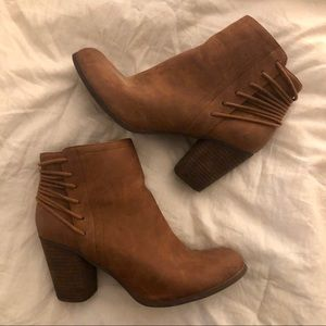 Brown Madden Girl Ankle Boots — Size 9US